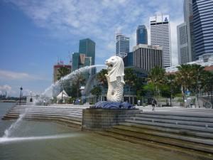 シンガポール マーライオンパーク