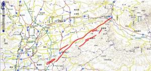 布田川・日奈久起震断層 地図