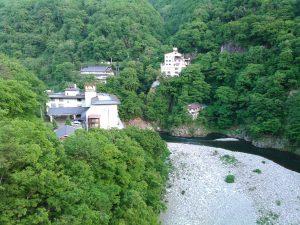 芦ノ牧温泉 渓谷 阿賀川
